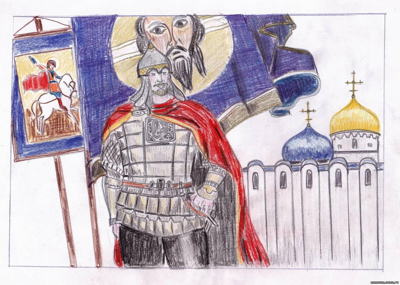 Александре невском рисунки